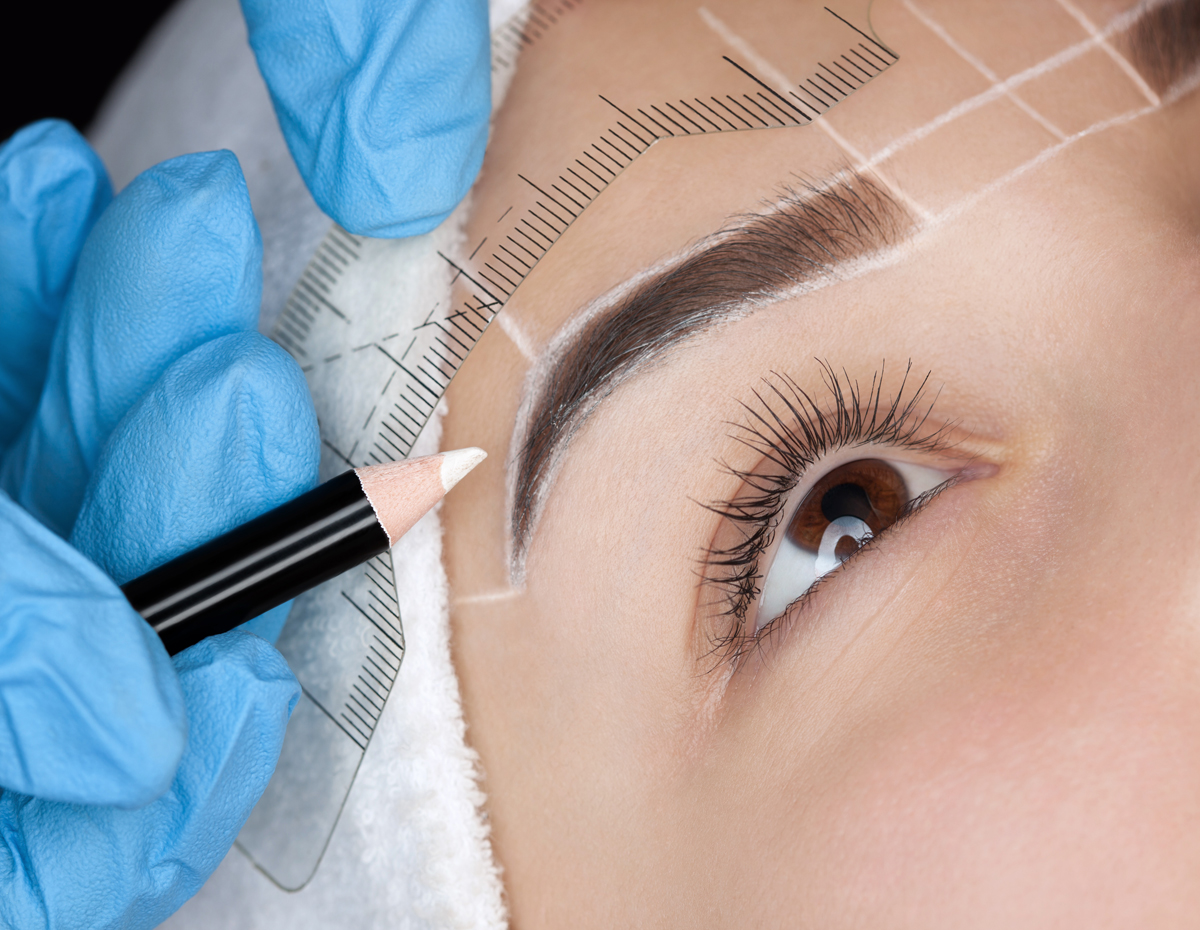 Eyebrow Threading Microblading Permanent Makeup Facials
